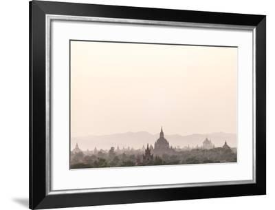 Sunrise over Ancient Temples of Bagan, Myanmar-Harry Marx-Framed Photographic Print