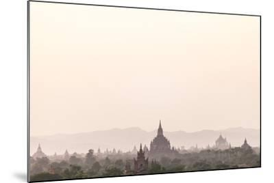 Sunrise over Ancient Temples of Bagan, Myanmar-Harry Marx-Mounted Photographic Print