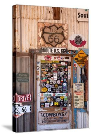 USA, Arizona, Route 66, Hackberry, Shop-Catharina Lux-Stretched Canvas Print