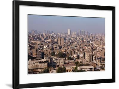 Egypt, Cairo, Citadel, View at the Islamic Old Town-Catharina Lux-Framed Photographic Print