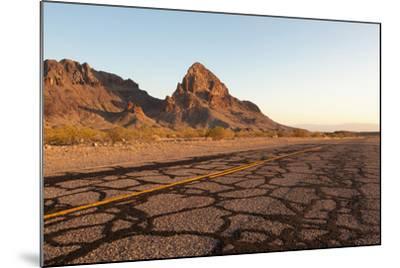 USA, Arizona, Route 66, Black Mountains, Street-Catharina Lux-Mounted Photographic Print