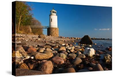 Lighthouse Taksensand, Alsen Island, Denmark-Thomas Ebelt-Stretched Canvas Print
