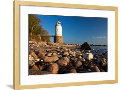 Lighthouse Taksensand, Alsen Island, Denmark-Thomas Ebelt-Framed Photographic Print