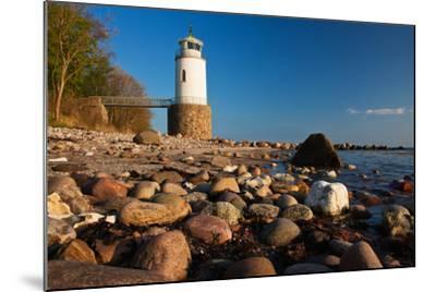 Lighthouse Taksensand, Alsen Island, Denmark-Thomas Ebelt-Mounted Photographic Print
