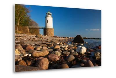 Lighthouse Taksensand, Alsen Island, Denmark-Thomas Ebelt-Metal Print