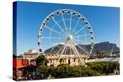 Cape Town, Harbour, V and a Waterfront, Ferris Wheel-Catharina Lux-Stretched Canvas Print