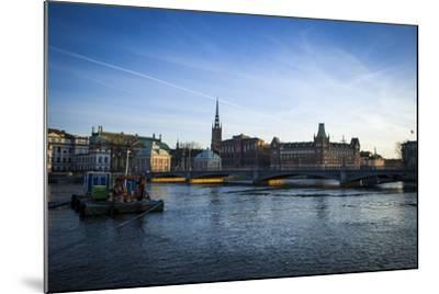 View on Riddarholmen with Riddarhuset, Riddarholmskyrkan and Norstedtshuset, Stockholm-Frina-Mounted Photographic Print