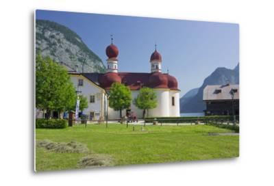 Church Saint Bartholom?, King's Lake, National Park Berchtesgaden-Rainer Mirau-Metal Print