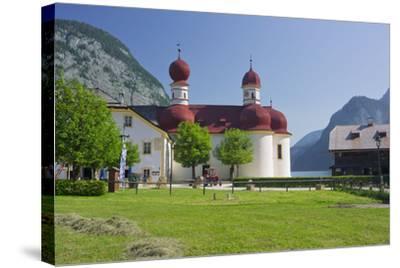 Church Saint Bartholom?, King's Lake, National Park Berchtesgaden-Rainer Mirau-Stretched Canvas Print