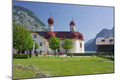 Church Saint Bartholom?, King's Lake, National Park Berchtesgaden-Rainer Mirau-Mounted Photographic Print