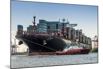 Germany, Hamburg, Elbe (River), 'Fischmarkt', Harbour-Ingo Boelter-Mounted Photographic Print