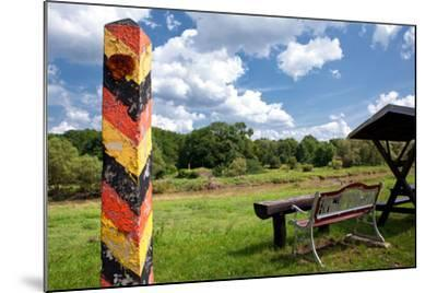 Germany, Saxony, Oder-Neisse Cycle Route, Boundary Post at the Polish Border, Resting Place-Catharina Lux-Mounted Photographic Print