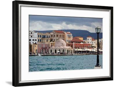 Greece, Crete, Chania, Venetian Harbour, Mosque-Catharina Lux-Framed Photographic Print