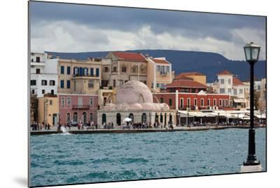 Greece, Crete, Chania, Venetian Harbour, Mosque-Catharina Lux-Mounted Photographic Print