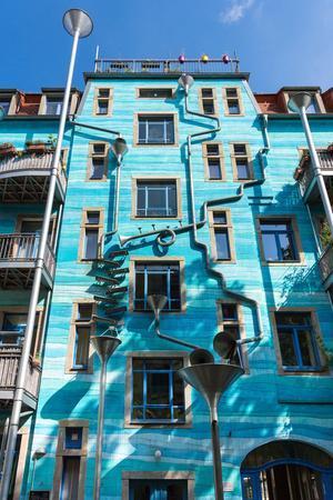 Dresden, Neustadt, Facade, Regenwasserspiel-Catharina Lux-Framed Photographic Print