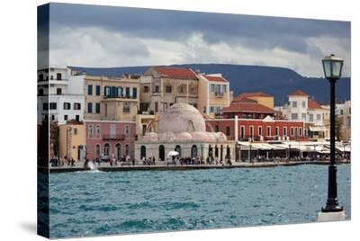 Greece, Crete, Chania, Venetian Harbour, Mosque-Catharina Lux-Stretched Canvas Print