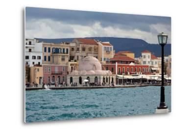 Greece, Crete, Chania, Venetian Harbour, Mosque-Catharina Lux-Metal Print