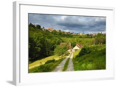 Germany, Bavaria, Central Franconia, Rothenburg Ob Der Tauber, Townscape, Cloudy Sky-Andreas Vitting-Framed Photographic Print