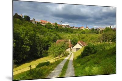 Germany, Bavaria, Central Franconia, Rothenburg Ob Der Tauber, Townscape, Cloudy Sky-Andreas Vitting-Mounted Photographic Print
