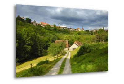 Germany, Bavaria, Central Franconia, Rothenburg Ob Der Tauber, Townscape, Cloudy Sky-Andreas Vitting-Metal Print