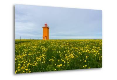 Iceland, Peninsula Reykjanes, Lighthouse-Catharina Lux-Metal Print