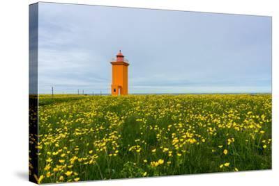 Iceland, Peninsula Reykjanes, Lighthouse-Catharina Lux-Stretched Canvas Print