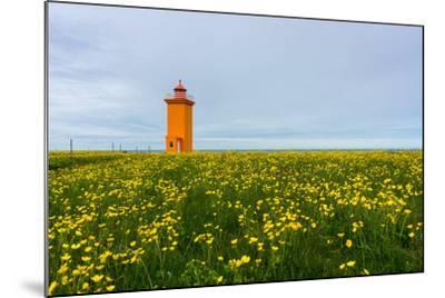 Iceland, Peninsula Reykjanes, Lighthouse-Catharina Lux-Mounted Photographic Print