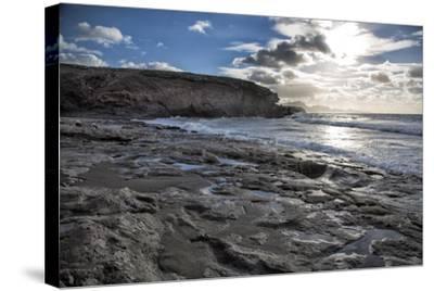 Spain, Canary Islands, Fuerteventura, Beach, Sea-Andrea Haase-Stretched Canvas Print