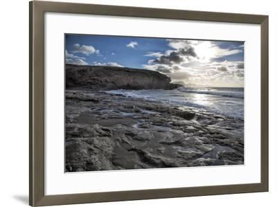 Spain, Canary Islands, Fuerteventura, Beach, Sea-Andrea Haase-Framed Photographic Print