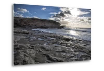 Spain, Canary Islands, Fuerteventura, Beach, Sea-Andrea Haase-Metal Print