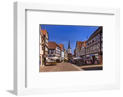 Germany, Bavaria, Lower Franconia, Main-Franconia, Lohr (River) Am Main-Udo Siebig-Framed Photographic Print