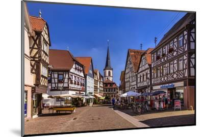 Germany, Bavaria, Lower Franconia, Main-Franconia, Lohr (River) Am Main-Udo Siebig-Mounted Photographic Print