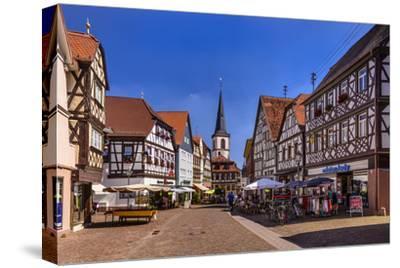 Germany, Bavaria, Lower Franconia, Main-Franconia, Lohr (River) Am Main-Udo Siebig-Stretched Canvas Print