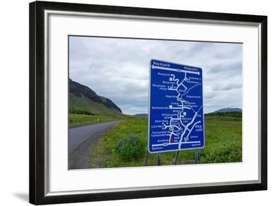 Signpost, Iceland, Golden Circle, Confusing-Catharina Lux-Framed Photographic Print