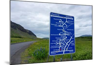 Signpost, Iceland, Golden Circle, Confusing-Catharina Lux-Mounted Photographic Print