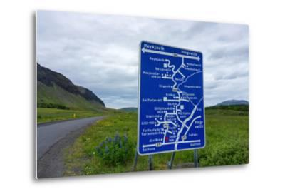 Signpost, Iceland, Golden Circle, Confusing-Catharina Lux-Metal Print