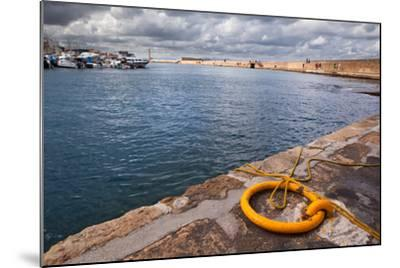 Greece, Crete, Chania, Harbour, Fixing Ring-Catharina Lux-Mounted Photographic Print