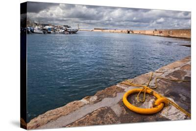 Greece, Crete, Chania, Harbour, Fixing Ring-Catharina Lux-Stretched Canvas Print