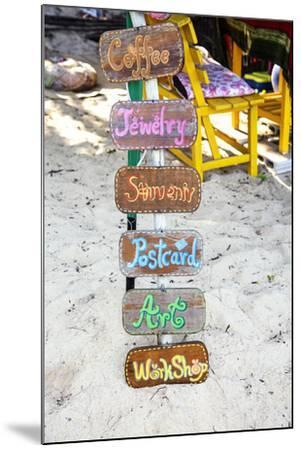 Signs, Brightly Coloured, Hand-Painted, Beach Bar, Unique-Andrea Haase-Mounted Photographic Print