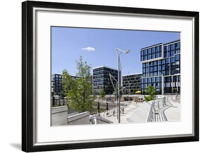 Marco Polo Terraces, Grasbrookhafen, Hafencity, Hanseatic City of Hamburg, Hamburg, Germany-Axel Schmies-Framed Photographic Print