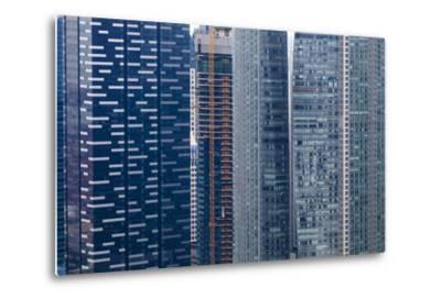 Singapore Skyscraper Detail at Marina Bay-Harry Marx-Metal Print