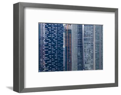 Singapore Skyscraper Detail at Marina Bay-Harry Marx-Framed Photographic Print