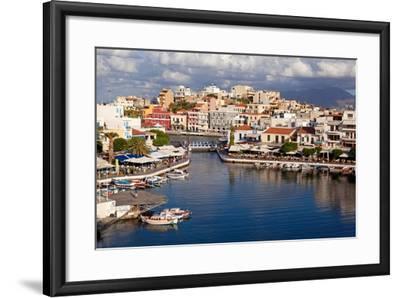 Greece, Crete, Agios Nikolaos, Lake Voulismeni-Catharina Lux-Framed Photographic Print