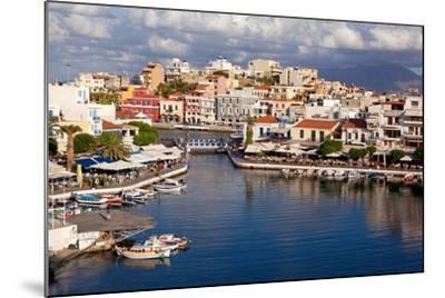 Greece, Crete, Agios Nikolaos, Lake Voulismeni-Catharina Lux-Mounted Photographic Print
