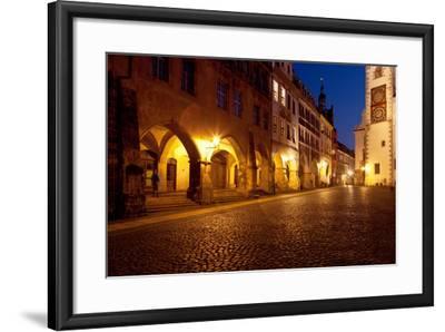 Germany, Saxony, G?rlitz, Untermarkt, Arcade Houses-Catharina Lux-Framed Photographic Print