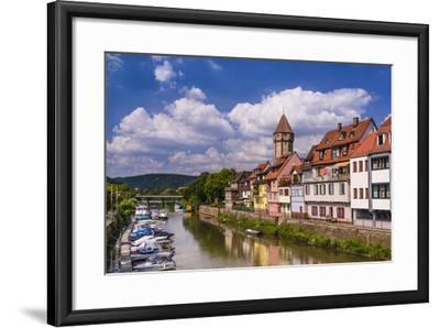 Germany, Baden-W?rttemberg, Main-Tauber-Region, Wertheim, Tauberufer-Udo Siebig-Framed Photographic Print