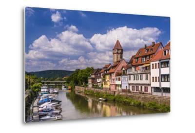 Germany, Baden-W?rttemberg, Main-Tauber-Region, Wertheim, Tauberufer-Udo Siebig-Metal Print