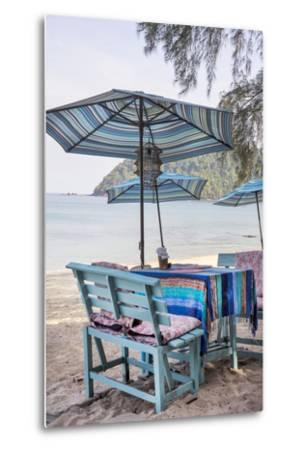 Piece of Furniture, Brightly, Runable Aground, Thailand, Beach-Andrea Haase-Metal Print
