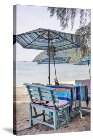 Piece of Furniture, Brightly, Runable Aground, Thailand, Beach-Andrea Haase-Stretched Canvas Print