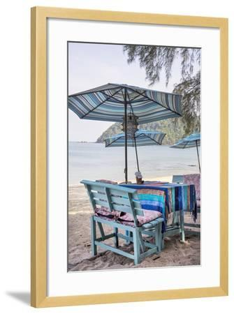 Piece of Furniture, Brightly, Runable Aground, Thailand, Beach-Andrea Haase-Framed Photographic Print